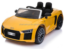 2017 hot sale kids electric ride on car double seats two seats Audi R8 Spyder