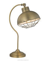 Antique LED Table Lamp for Restaurant Decoration and Lighting, Full Metal Body with Bronze Color