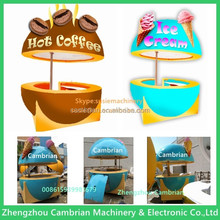 Advertising board electric coffee bike with colorful lamp