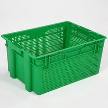 Large industrial heavy duty agriculture vegetables and fruits shipping stackable storage mesh plastic crate for sale