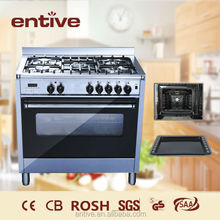 Stainless steel kitchen gas Cooking Range with grill