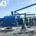 Small waste engine oil luricant oil distillation purification machine for synthetic diesel with latest integrated design