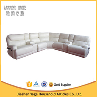People lounger leather l shaped sofa bed in china