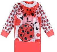 Online Shopping Site Hotsale Transparent Cute Printed Poncho Raincoat for Children