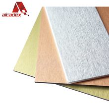 exterior wall cladding aluminum composite sheets/building decoration brushed finished acp