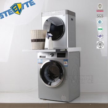 Practical Clamp Cabinet Between Washer And Dryer,Metal Stacking Kit Equipment