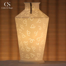 Vase Shape Decorative Interior Ceramic Led Lamps D82-10