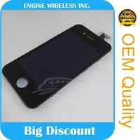 Wholesale lcd with for iphone 4s back cover screen complete,for iphone 4 touch screen with digitized