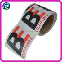 Custom Self Adhesive Transparent Label , Waterproof Clear Vinyl Sticker Roll