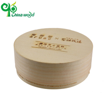 New style disposable round wooden with lids pine cake box