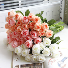 Hot selling real touch rose silicone artificial flowers