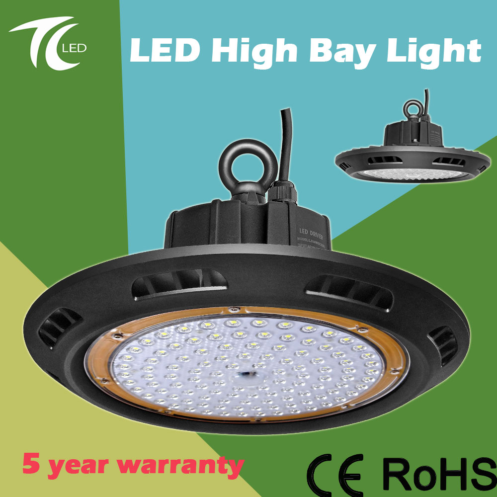 UFO high bay light 100W 150W 200W outdoor lighting SMD3030 meanwell driver