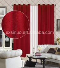 Italian velvet solid color living room curtains with Sequined silk