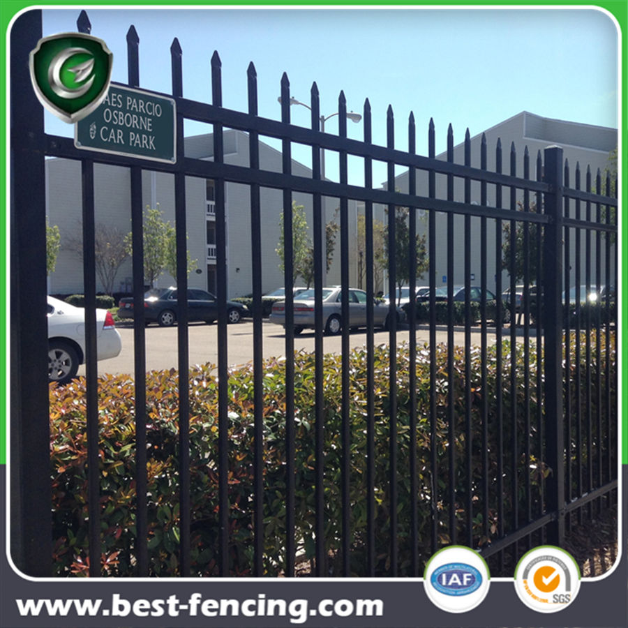 Maintenance Free Black Metal Garrison Fence