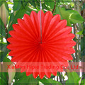 Handmade Red Tissue Paper Flower Rosette Fan decoration for wedding party