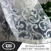High quality new design popular sheer burnout curtain fabric manufacturer China