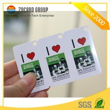 Full Color Printing PVC Keychain Business Combo Card