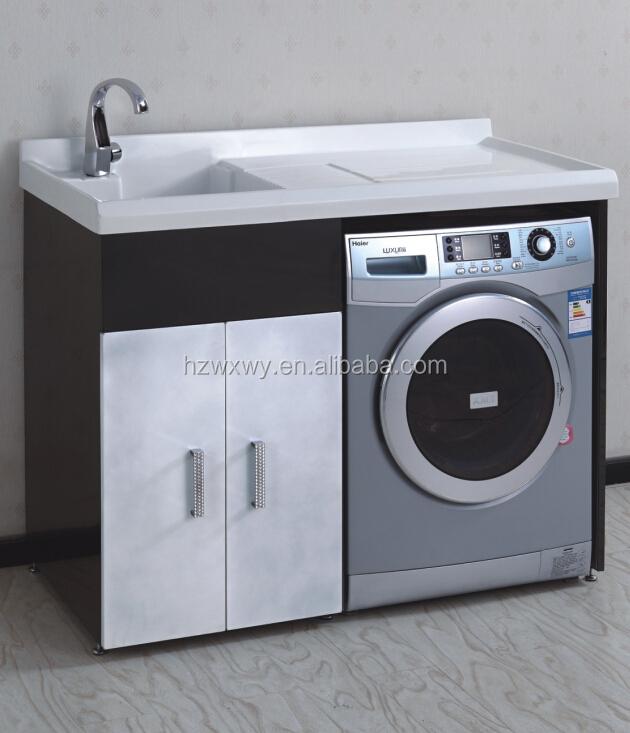 meuble lavabo avec machine laver de blanchisserie. Black Bedroom Furniture Sets. Home Design Ideas