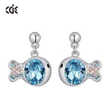Double Face Imitation Rhinestone Stud Hypoallergenic Earrings