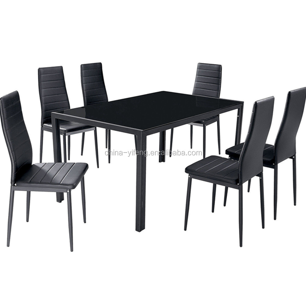 Modern glass dining table set in dining room sets buy for Stylish dining table set