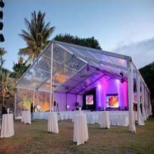 600 people Clear Span PVC Roof Transparent wedding Tent with good quality
