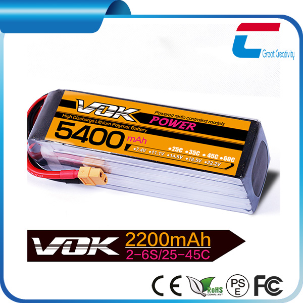 6S 5000mAh Lipo rc Batteries Pack 22.2v 50C Helicopters Airplanes