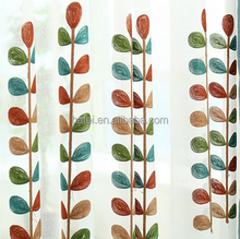 High Quality Coral Embroidered Voile Curtains