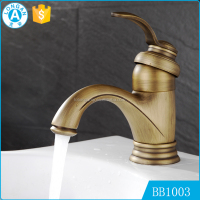 Wholesales custom low price hotel bath bathroom antique brass faucet