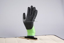 hi-vis green micro-foam nitrile coated knitted liner <strong>safety</strong> working gloves china manufacturer