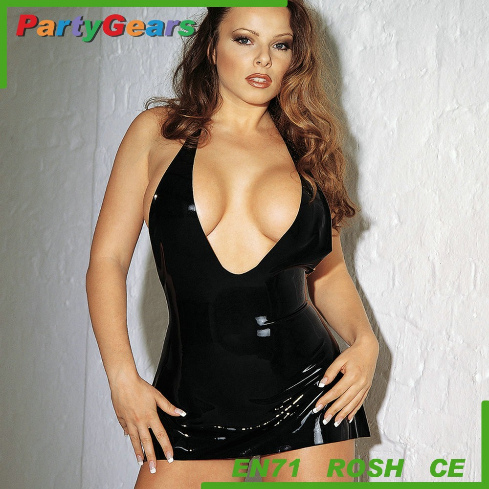 New Fashion Sexy Underwear latex Hot Skirt Sex Party Latex Catsuit