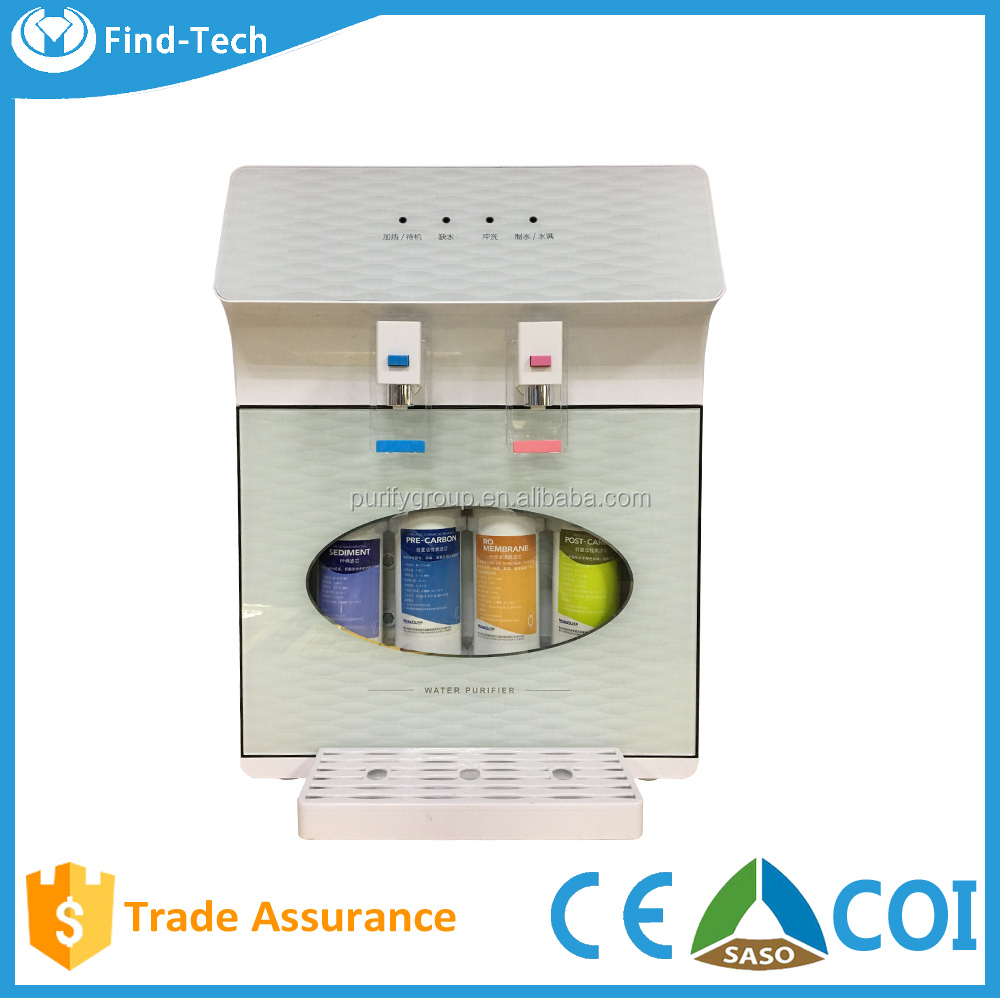 Cold water dispenser countertop Custom wholesale promotional 5 stage health drinking ro water filter home use dispenser machines