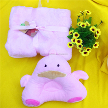 Portable soft touch baby pillow and blanket set