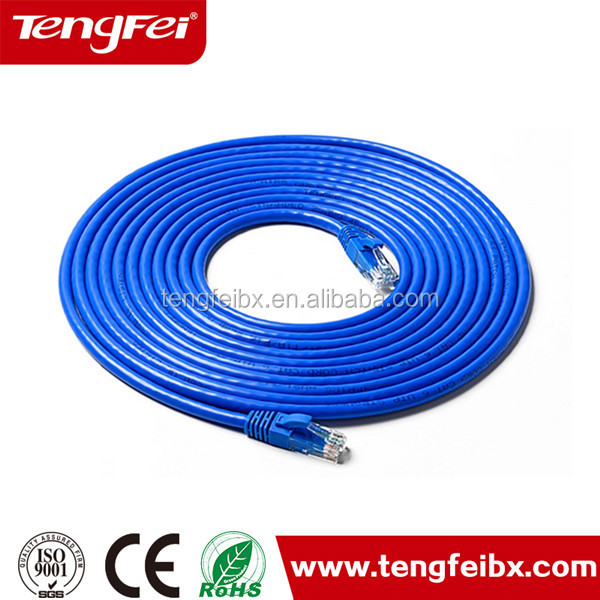 Telecom CAT6A CAT7 RJ45 SSTP SFTP Ethernet pure solid copper RJ45 lan cable with best price per meter