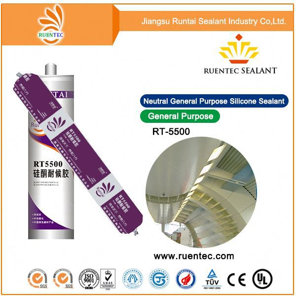 Top Quality UV Resistance 100% RTV Glass Clear Structural Glazing Silicone Sealant