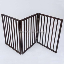 3-pieces design pine material wooden pet fence