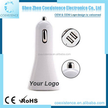 Promotional multi color dual USB car charger for iphone 7 6 6s 5s android tablet