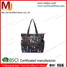 Art girl printing polyester waterproof tote bag from China,fashion handbag