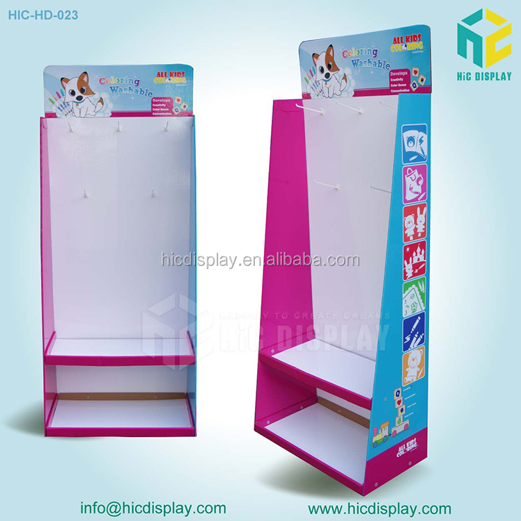 HIC pop up toilet paper holder stand cardboard display stand on sell