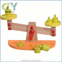 customer hot selling child craft toys wooden balance scale toys early educational toys for children