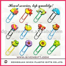 Coloful animal y flor PVC libro clip para regalos del sorteo