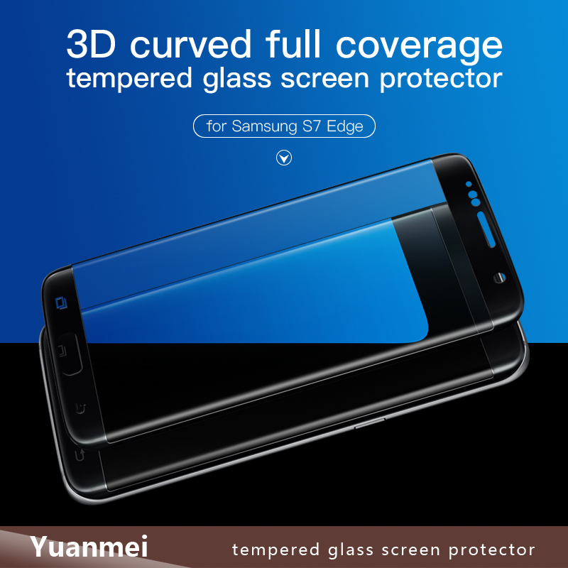 3D Premium Tempered Glass Screen Protector For Samsung Galaxy S7 Edge