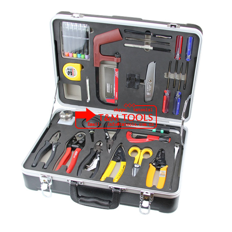 High quantity Fast reaction TM6300A Basic Fiber Optic Install Tool Kit/FTTH Tool kit
