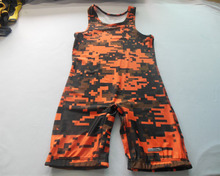 Wholesale New Design Customize Sublimated Camo Wrestling Singlets