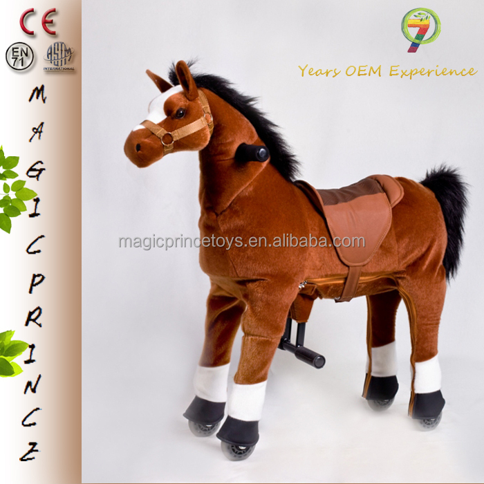 (EN71&ASTM&CE)~(Pass!!)~Dalian Port Mechanical Ride on horse toy pony Large walking horse toysMagicprince HB-8 Bay horse