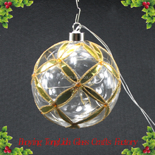 Christmas tree decoration hanging glass ball with led light