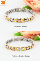 2013 stainless steel negative ion far infrared germanium magnetic power bracelet