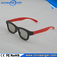 Black&Red mixed frame Passive 3d glasses for watching Hotel Transylvania 2