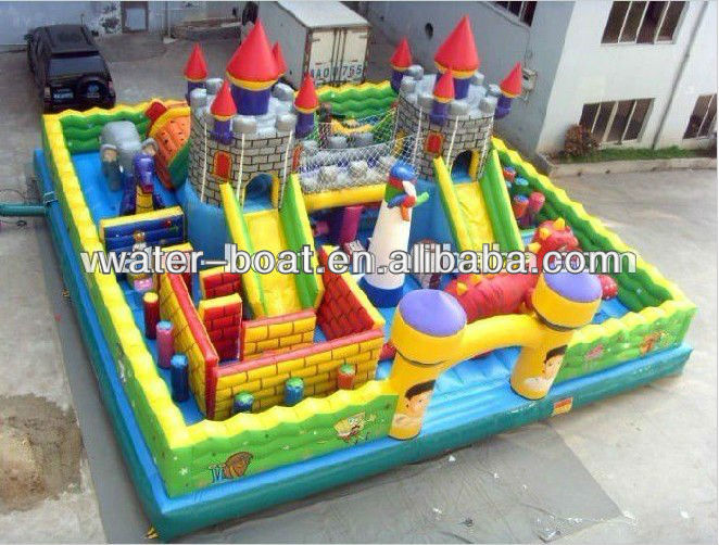 inflatable fun city amusement park game, bouncy jumping castle park combo for kids