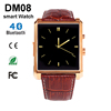 New Bluetooth Smart Watch DM08 Smartwatch Luxury Leather IPS Business Wristwatch For Apple iPhone for Samsung Android Phone