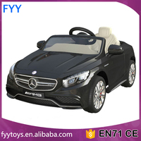 12v kids Licensed ride on car Mercedes Benz S63 baby 2.4G remote control 2017 toy car